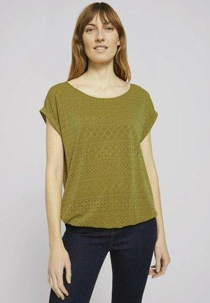 T-shirt print - gecko green