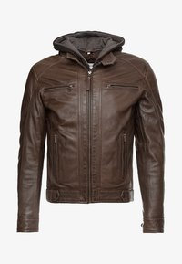 Serge Pariente - ERIC HOOD - Leather jacket - mocca - 6