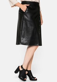 Sheego - A-line skirt - schwarz - 3