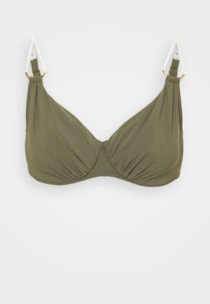 GLORY - Bikini top - khaki/gold