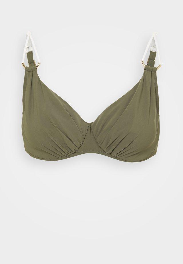 GLORY - Top de bikini - khaki/gold