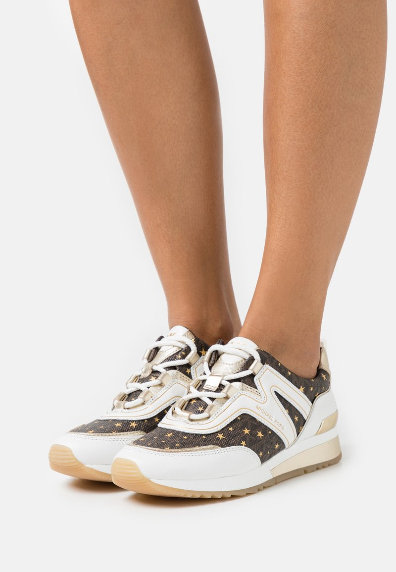 MICHAEL Michael Kors - PIPPIN TRAINER - Trainers - optic white/brown