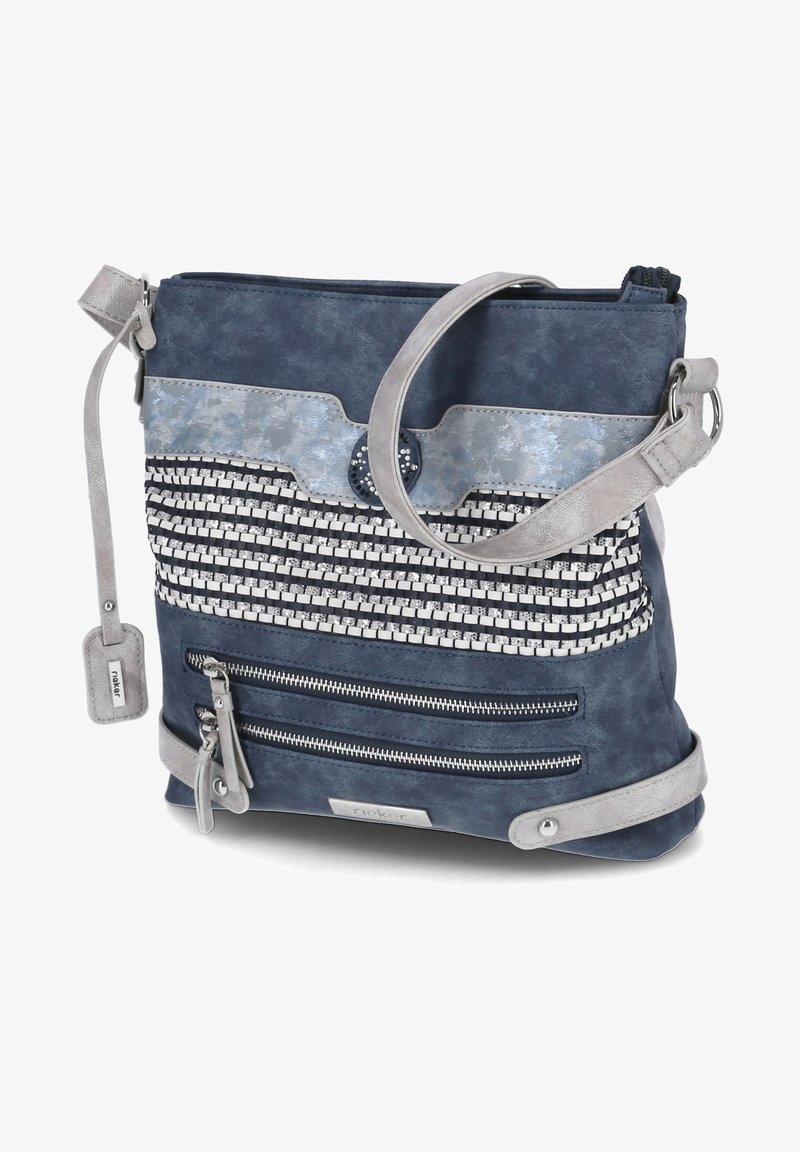 Rieker - Across body bag - blau-kombi