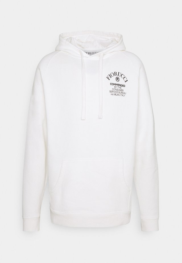 COMMENDED HOODIE - Luvtröja - white