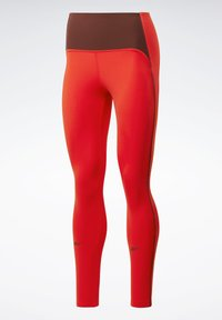 Reebok - STUDIO LUX PERFORM LEGGINGS - Legging - red - 7