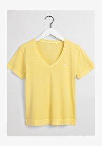 GANT - SUNFADED - T-shirt print - brimestone yellow - 1