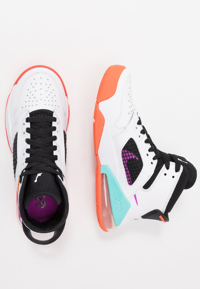 Jordan - MARS - Basketbalové boty - white/hyper violet/black/total orange/aurora green/bright crimson