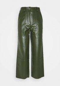PRESLEY VEGAN CACTUS LEATHER PANTS - Trousers - green