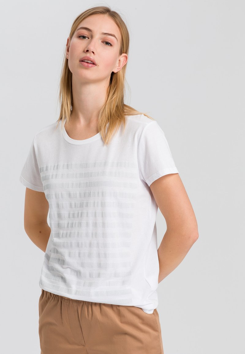 Marc Aurel - Print T-shirt - white