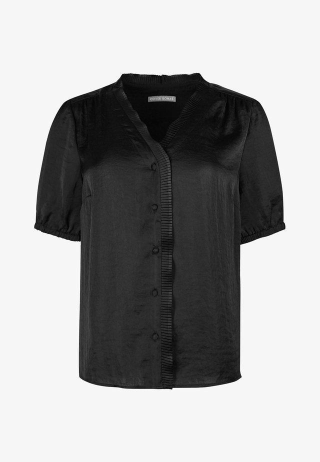 RUFFLE SATIN  - Overhemdblouse - black