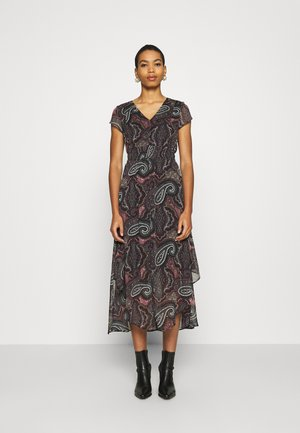 V NECK DRESS - Maxi dress - black