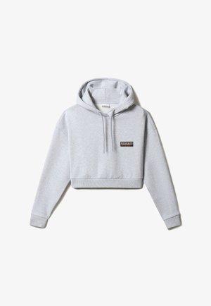 PATCH CROP - Hoodie - light grey melange