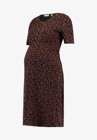 Queen Mum - DRESS NURSING - Vestito di maglina - black - 3