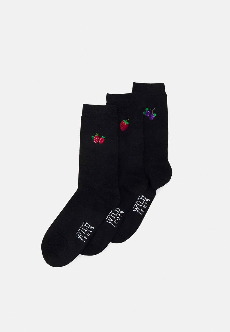 Wild Feet - SOCKS SUMMER BERRIES 3 PACK - Socks - black
