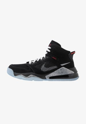 MARS 270 - Sneakers high - black/reflect silver/fire red/white