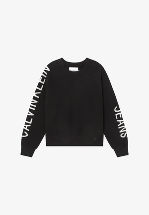 SLEEVES LOGO - Maglione - black