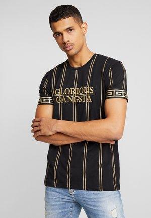VERBAN VERTICAL STRIPE - T-shirt con stampa - black