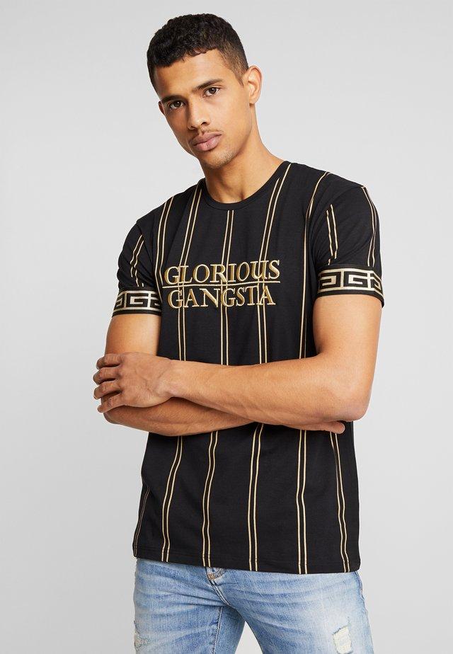 VERBAN VERTICAL STRIPE - Camiseta estampada - black