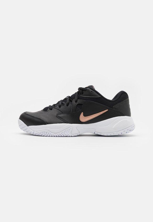 COURT LITE 2 - Tennisschoenen voor alle ondergronden - black/metallic red bronze/white