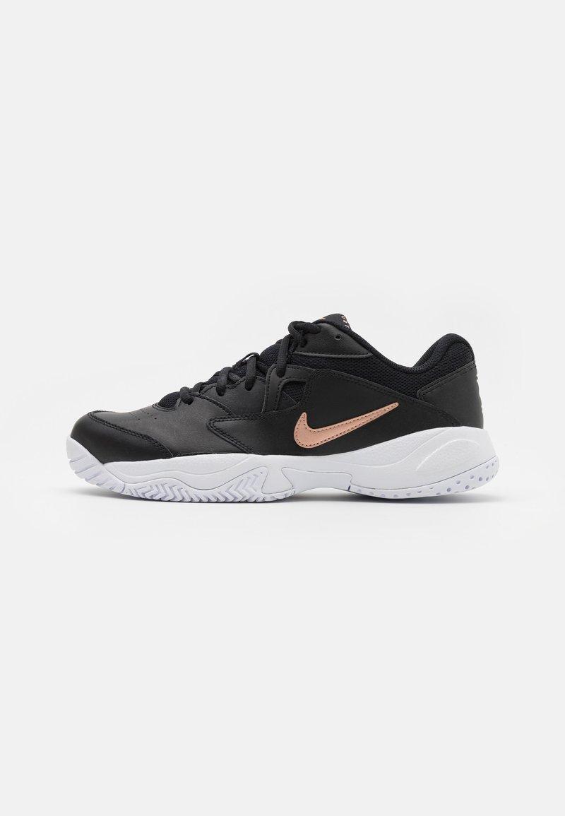 Nike Performance - LITE 2 - Scarpe da tennis per tutte le superfici - black/metallic red bronze/white