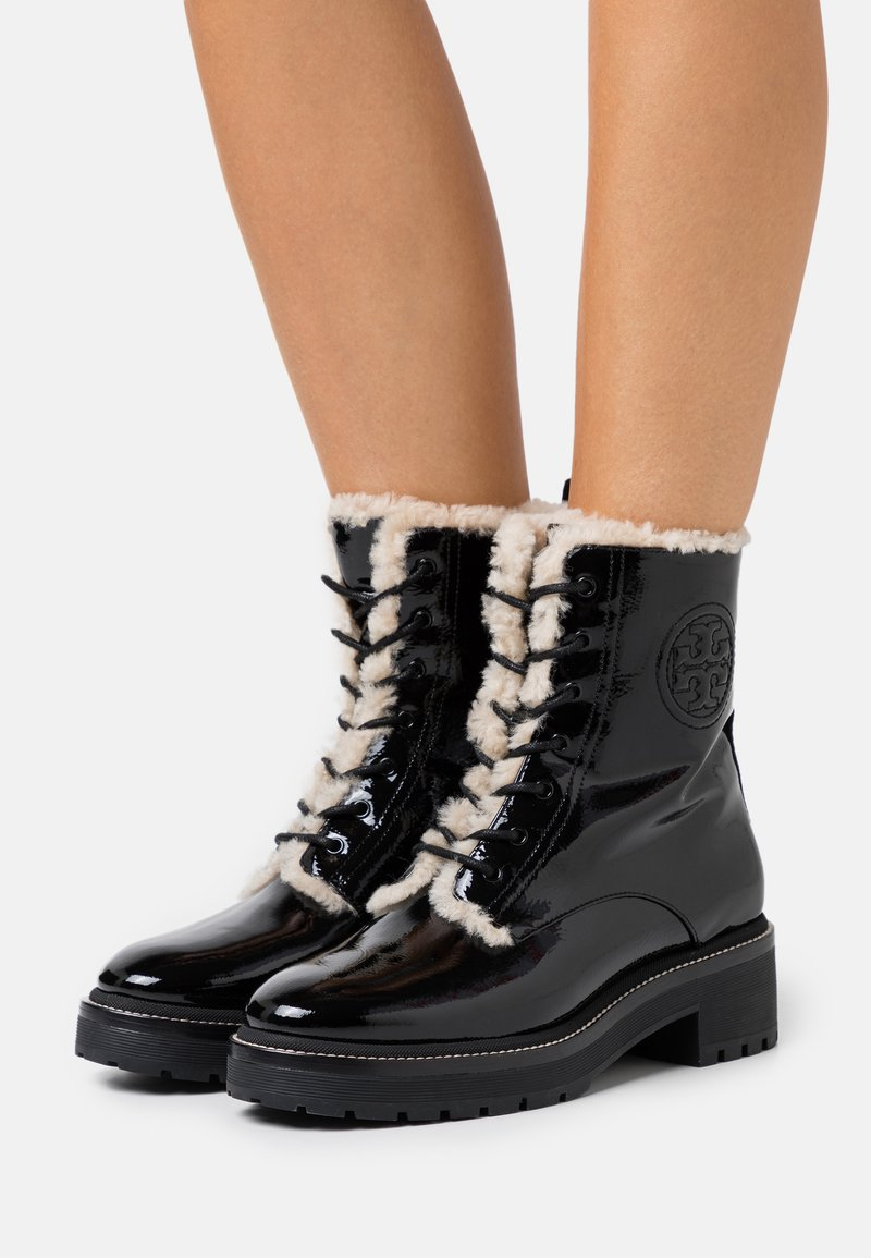 Tory Burch - MILLER LUG SOLE BOOTIE - Platform ankle boots - perfect black