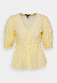 New Look - LEON DOBBY CUTWORK - Camicetta - yellow - 0