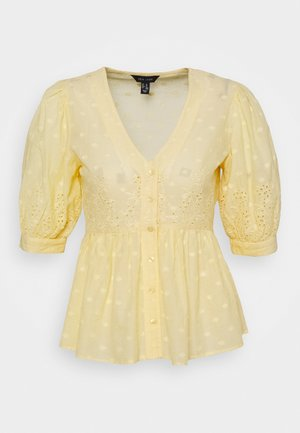LEON DOBBY CUTWORK - Blouse - yellow