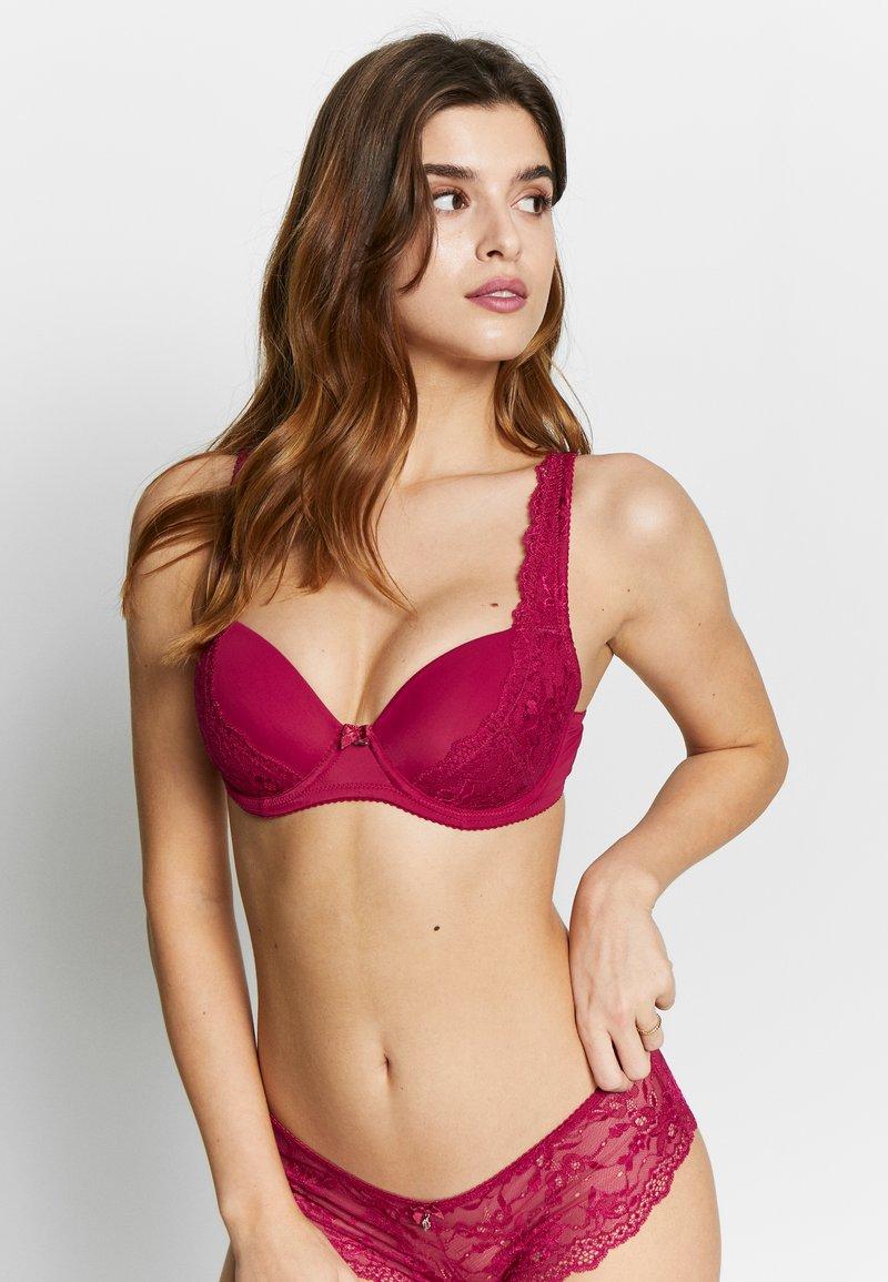 LASCANA - CARINA - Balconette bra - dark pink
