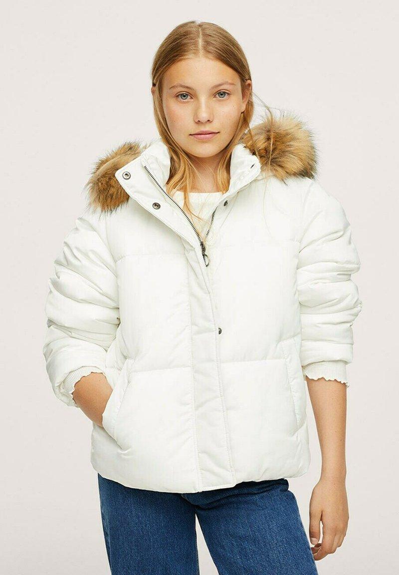 Mango - ANORAK AMOVIBLE - Winter jacket - blanc