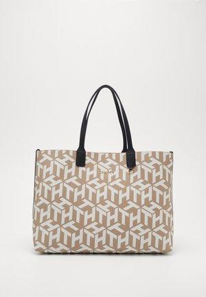 ICONIC TOTE MONOGRAM - Shopping bag - beige