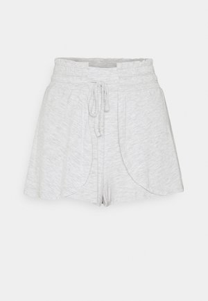 DOUBLE LAYER PETAL HEM SHORT - Korte broeken - grey marle