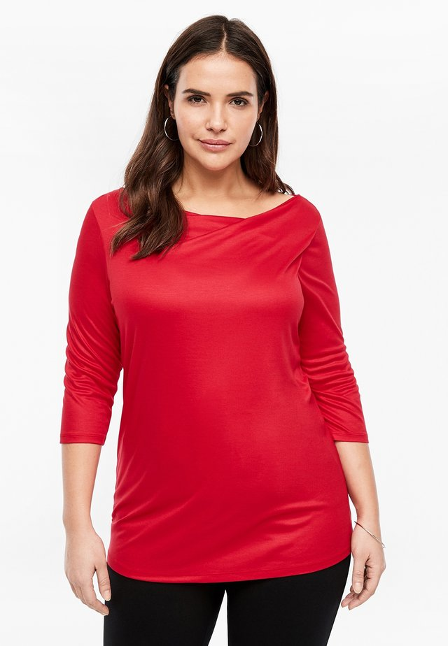 MIT WASSERFALL - Long sleeved top - red