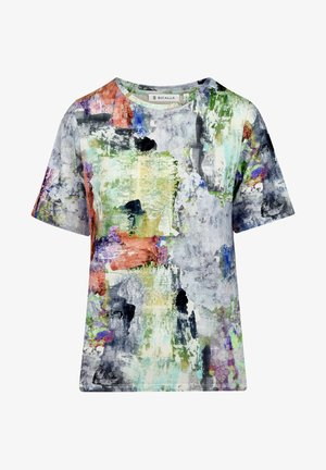 VISION - T-shirt print - lilac/brown