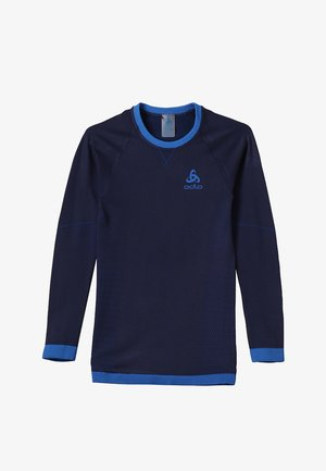 CREW NECK PERFORMANCE WARM KIDS  - Undershirt - diving navy /energy blue