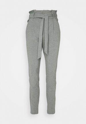 VMEVA PAPERBAG PANT - Trousers - medium grey melange