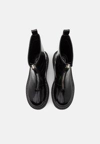 Missguided - ZIP UP STITCH DETAIL CHUNKY BOOTS - Platåstøvletter - black - 5