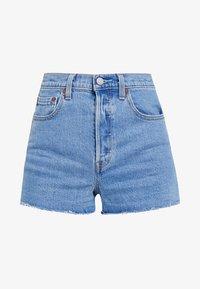 RIBCAGE - Denim shorts - tango stonewash