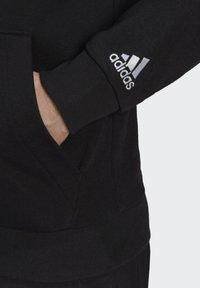 adidas Performance - ESSENTIALS FRENCH TERRY LINEAR LOGO HOODIE - Luvtröja - black - 4