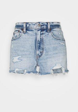 MOM DESTROY - Jeansshort - light-blue denim