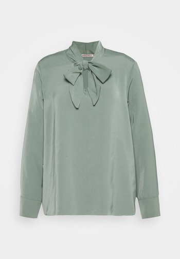 Pussy bow blouse - Blouse - green