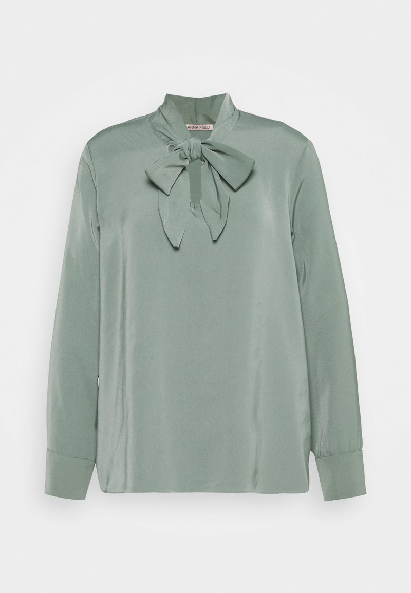 Anna Field - Pussy bow blouse - Bluser - green