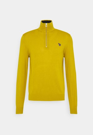 MENS ZIP NECK ZEBRA - Svetr - yellow