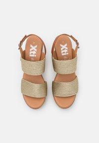 XTI - High heeled sandals - gold - 5