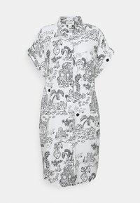 Monki - Shirt dress - white light - 3