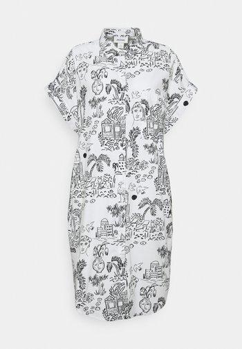 WANNA DRESS - Skjortekjole - white light