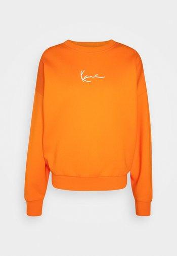 SMALL SIGNATURE CREW - Mikina - orange