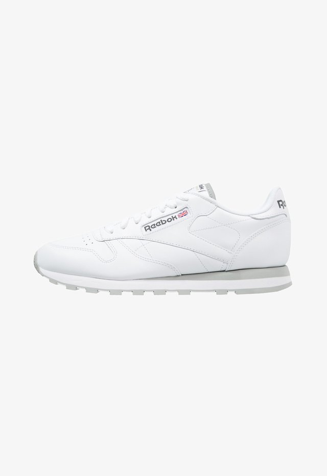 CLASSIC LEATHER LOW-CUT DESIGN SHOES - Baskets basses - white/light grey