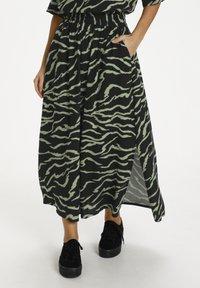 Kaffe - Maxi skirt - black  hedge zebra print - 0