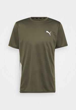 RUN FAVORITE TEE  - Print T-shirt - grape leaf/gray violet