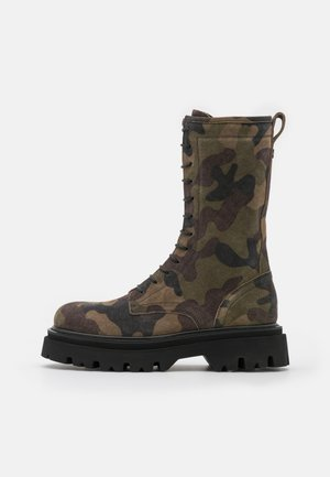 Lace-up boots - khaki